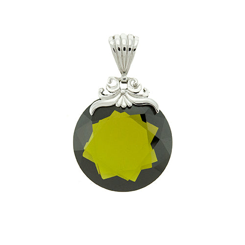 Olive Green Crystal Pendant