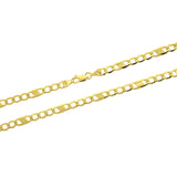 14K Semi Hollow Mirror Chain