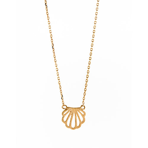 Rose Open Seashell Necklace