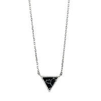 Black Marble Triangle Necklace