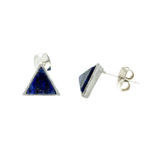 Lapis Triangle Earrings
