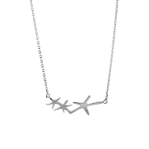 Three Starfish Necklace