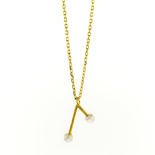 Gold Pearl Branch Necklace