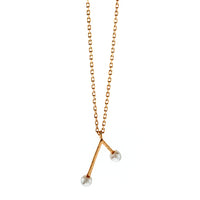 Rose Gold Pearl Branch Necklace