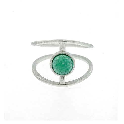 Turquoise Stone Cage Ring