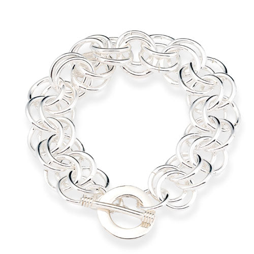 12mm Double Rolo Link Bracelet