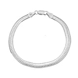Rhodium DC Ring Herringbone Chain
