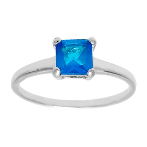 6mm Blue Zicron Birthstone Ring - December
