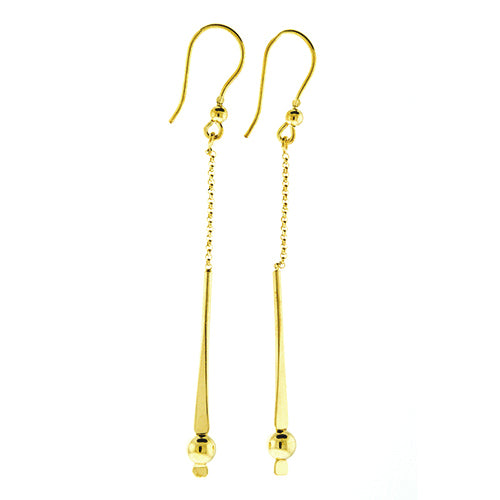 Bar Bead Dangling Earrings