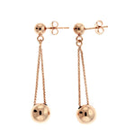 Double Ball Drop Earrings