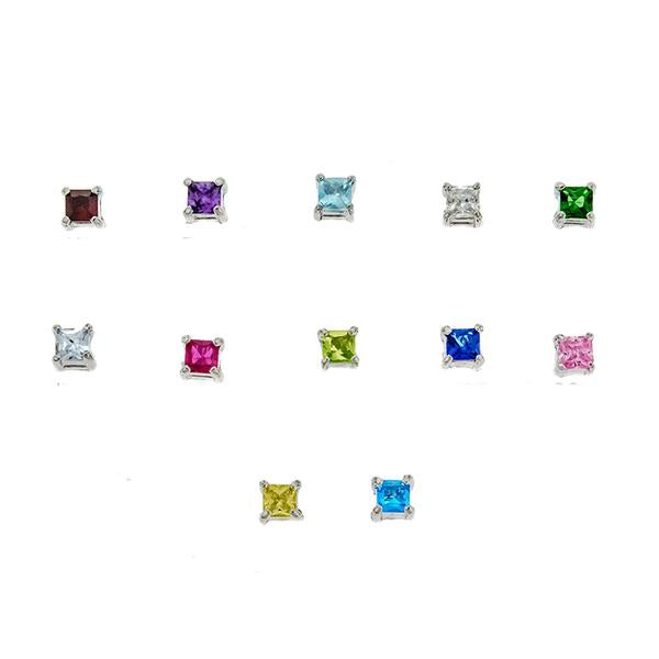 4mm Birthstone Earrings