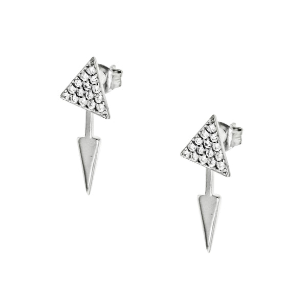 CZ Triangle Drop Earrings