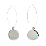 Circle Long Wire Earrings