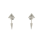 CZ Arrow Earrings