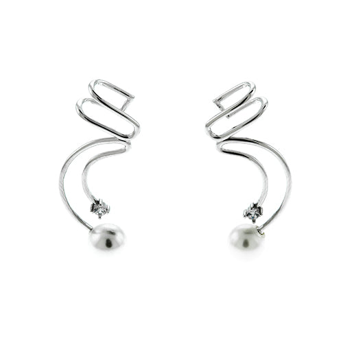 CZ and Pearl Ear Cuffs