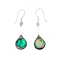 Abalone Rounded Teardrop Earrings