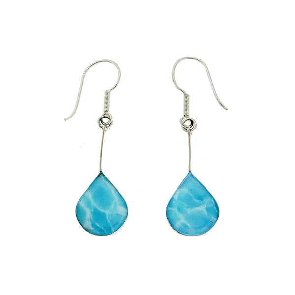 Larimar Rounded Teardrop Earrings