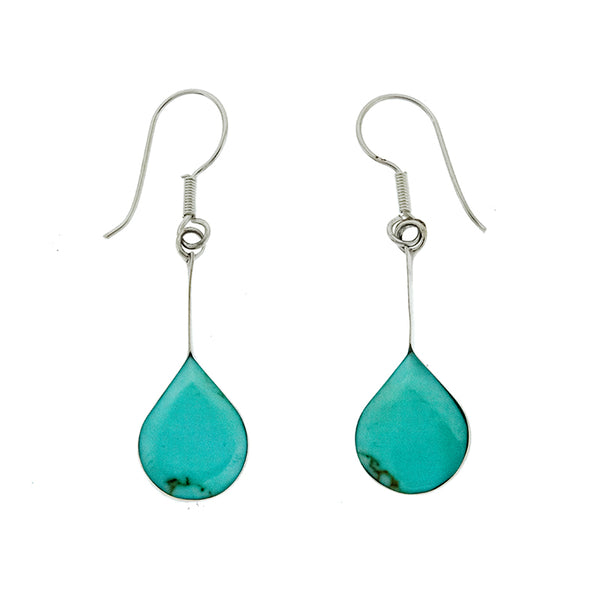 Turquoise Rounded Teardrop Earrings