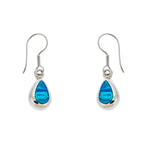 Blue Opal Teardrop Earrings