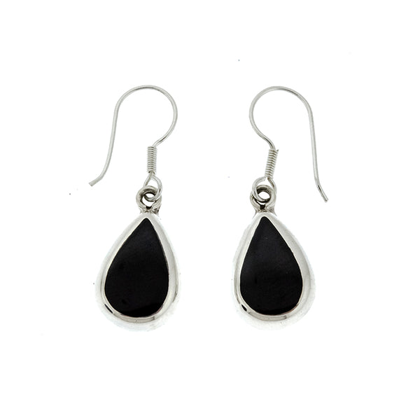 Black Onyx Teardrop Earrings