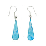 Larimar Long Teardrop Earrings