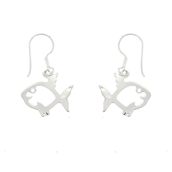 Cut Out Fish Earrings