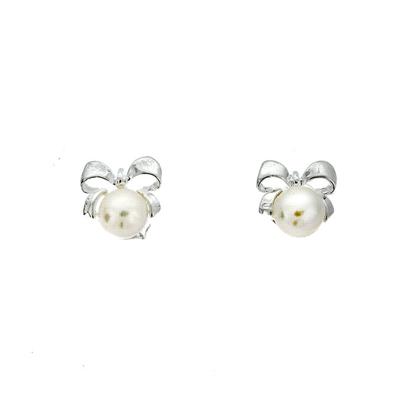 Pearl Bow Studs