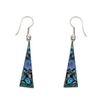 Abalone Long Triangle Earrings