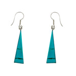 Turquoise Long Triangle Earrings