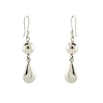 Ball and Teardrop Dangling Earrings