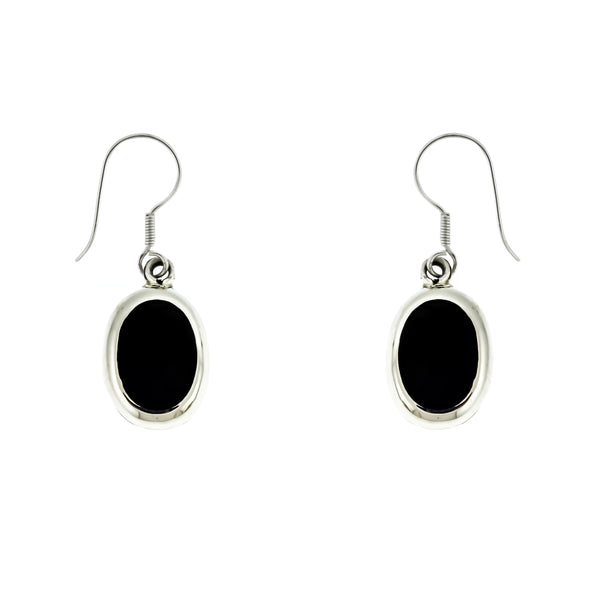 Black Onyx Oval Earrings
