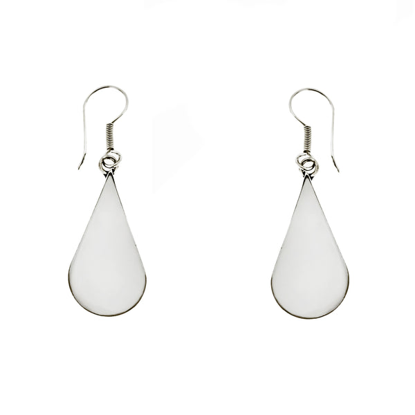 White Shell Teardrop Earrings