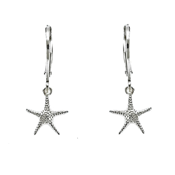 Starfish Leverback Hoops