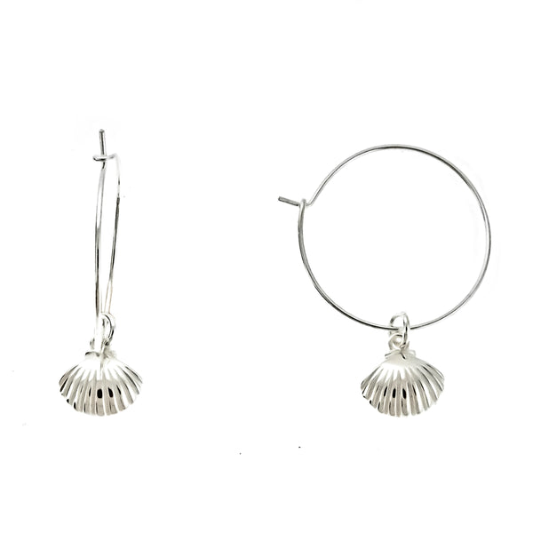 Seashell Wire Hoops