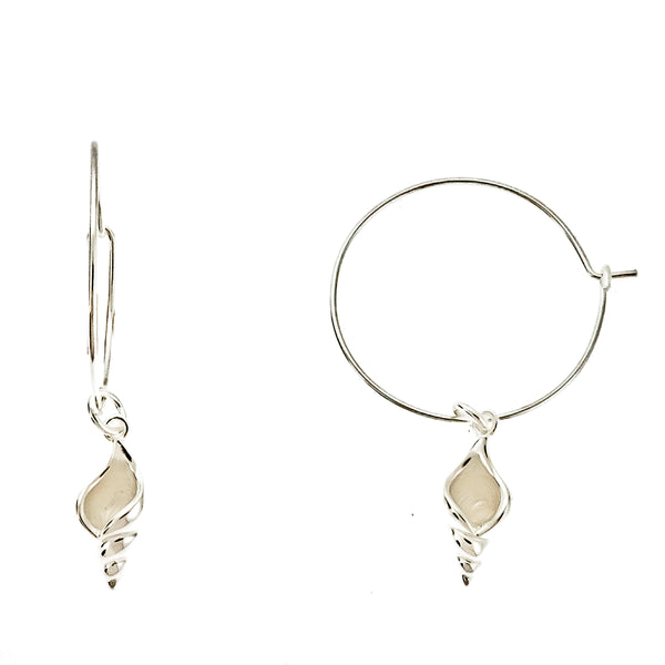 Conch Shell Wire Hoops