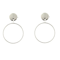 Open Circle Post Earrings