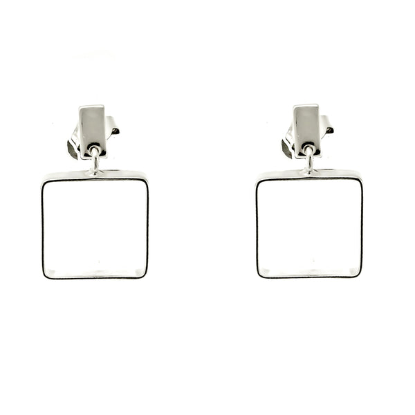 Open Square Post Earrings