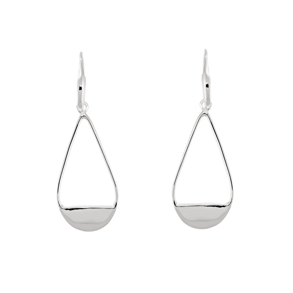 Teardrop Half Moon Earrings