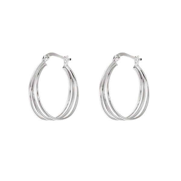 Three Line Oval Hoops