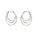 Oval Three Line Hoops
