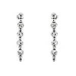 Rhodium DC Ball Earrings