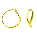 3mm Gold Snake Wavy Hoops