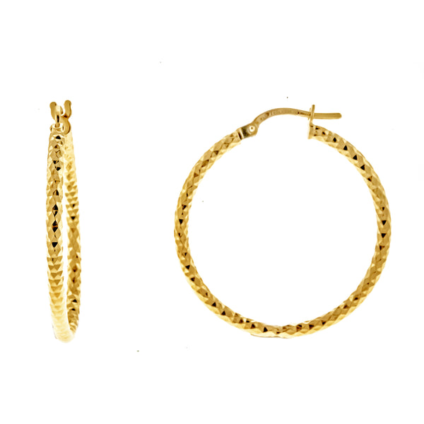 Gold Vermeil DC Hoops