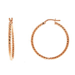 Rose Gold DC Hoops