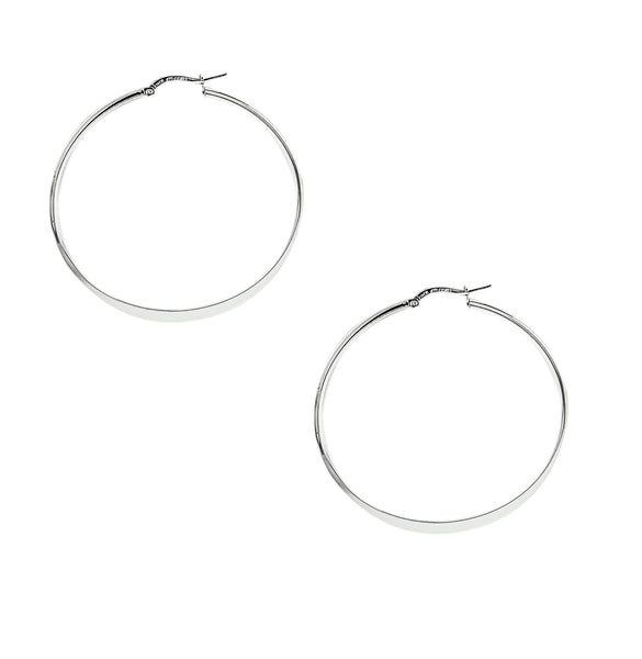 Flat Round Hoops