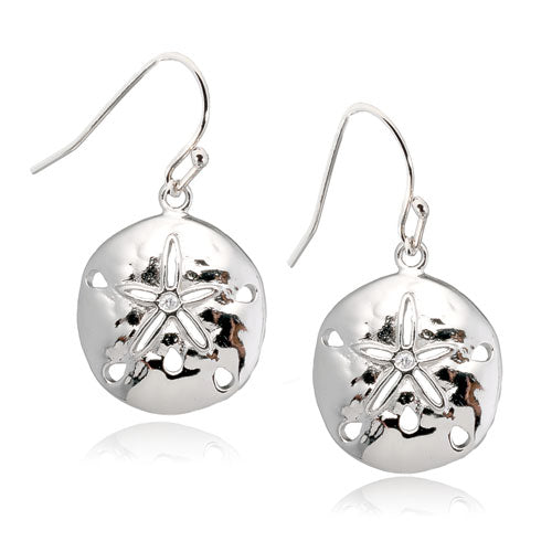 Sand Dollar with CZ Earrings