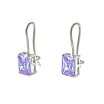 CZ Wire Hook Earrings