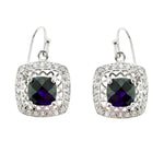 Amethyst and CZ Filigree Earrings