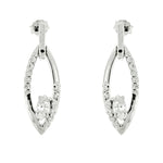 CZ Oval Earrings