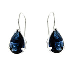 Sapphire Teardrop Wire Hook Earrings